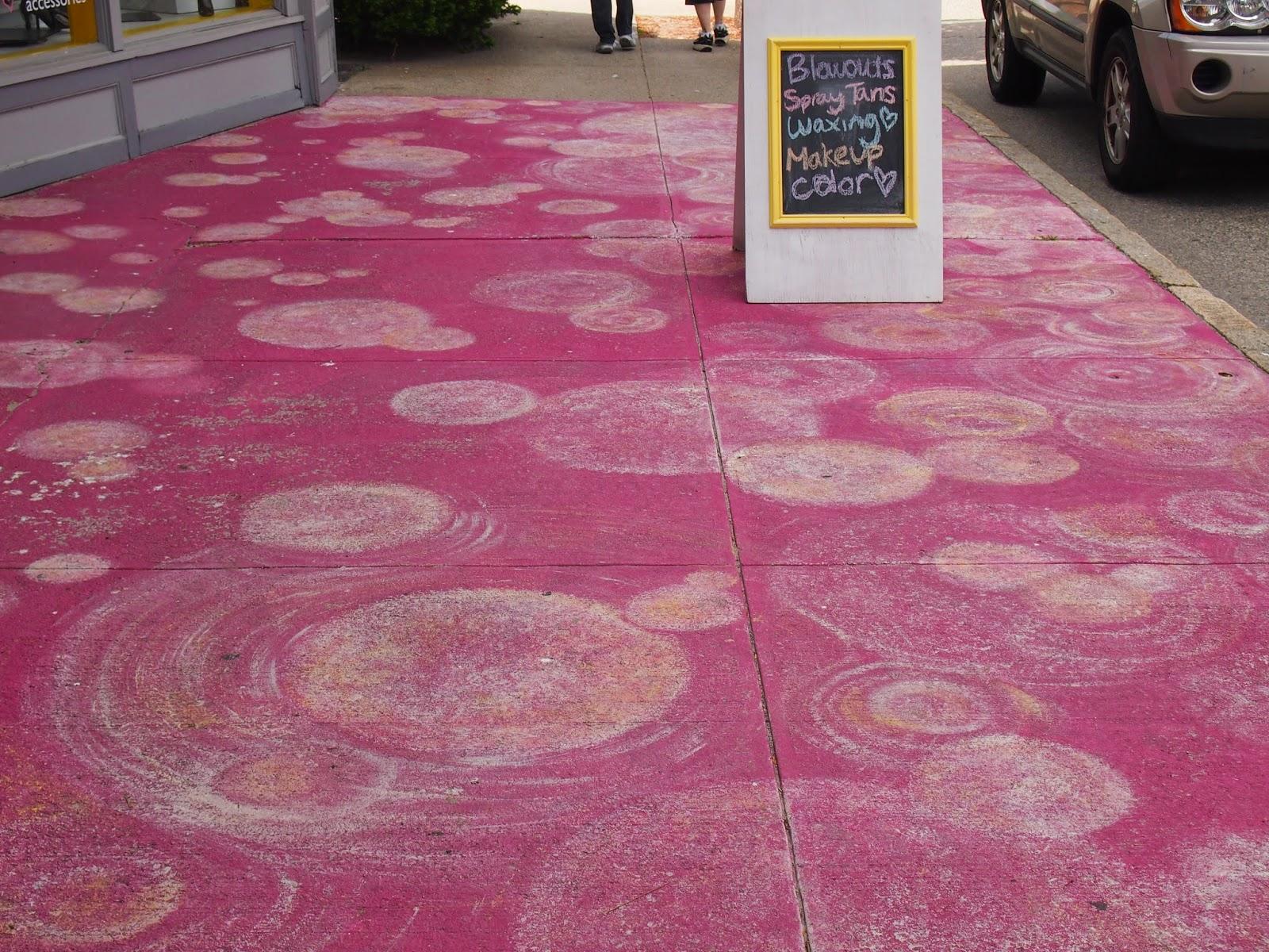 painted sidewalks in east greenwich rhode island