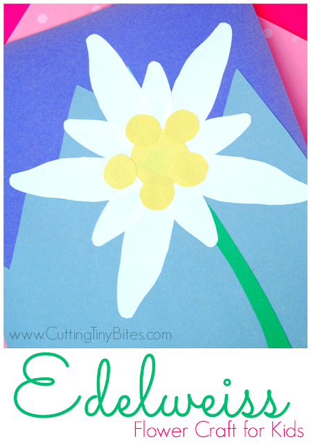 Edelweiss Flower Craft for Kids. Great for studying Switzerland, Austria, the Alps, Heidi, or the Sound of Music.