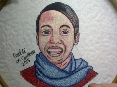 karikatur wajah