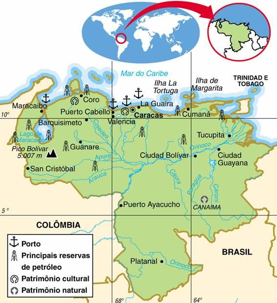 VENEZUELA - ASPECTOS GEOGRÁFICOS E SOCIAIS DA VENEZUELA