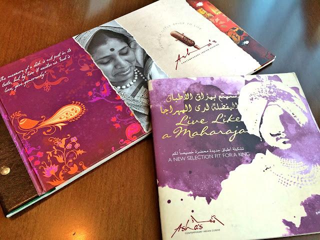 Live like a Maharaja menu at Asha's, The Avenues, Kuwait