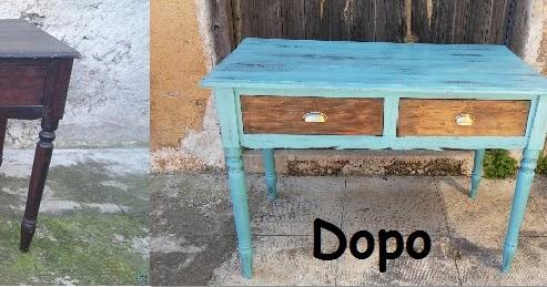 Scrivania Vintage Usata : Da vecchia scrivania a nuovo tavolo vintage usati e rifatti