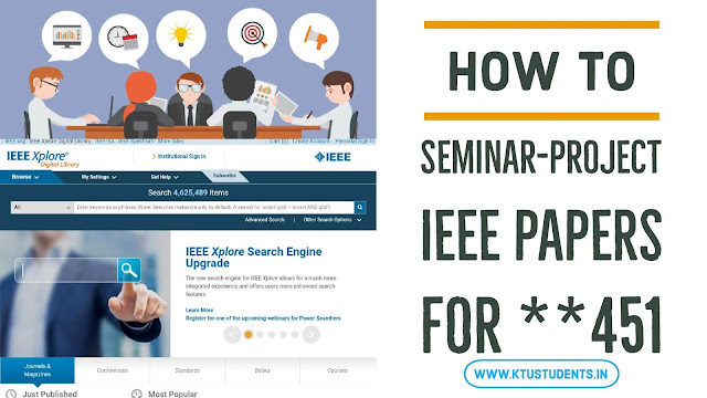ktu seminar project ieee papers