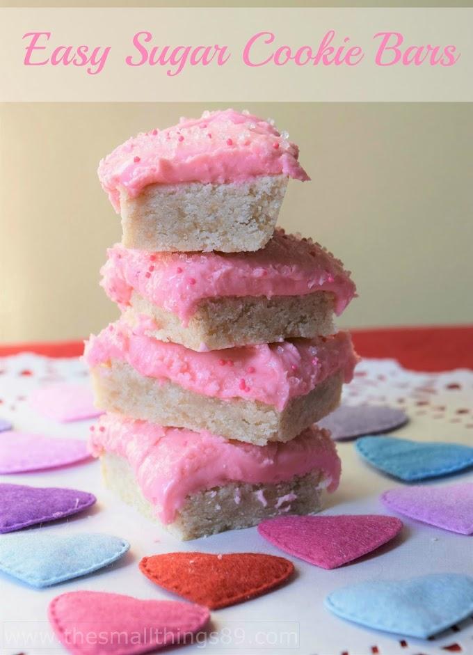 Valentine's Day Sugar Cookie Bars!