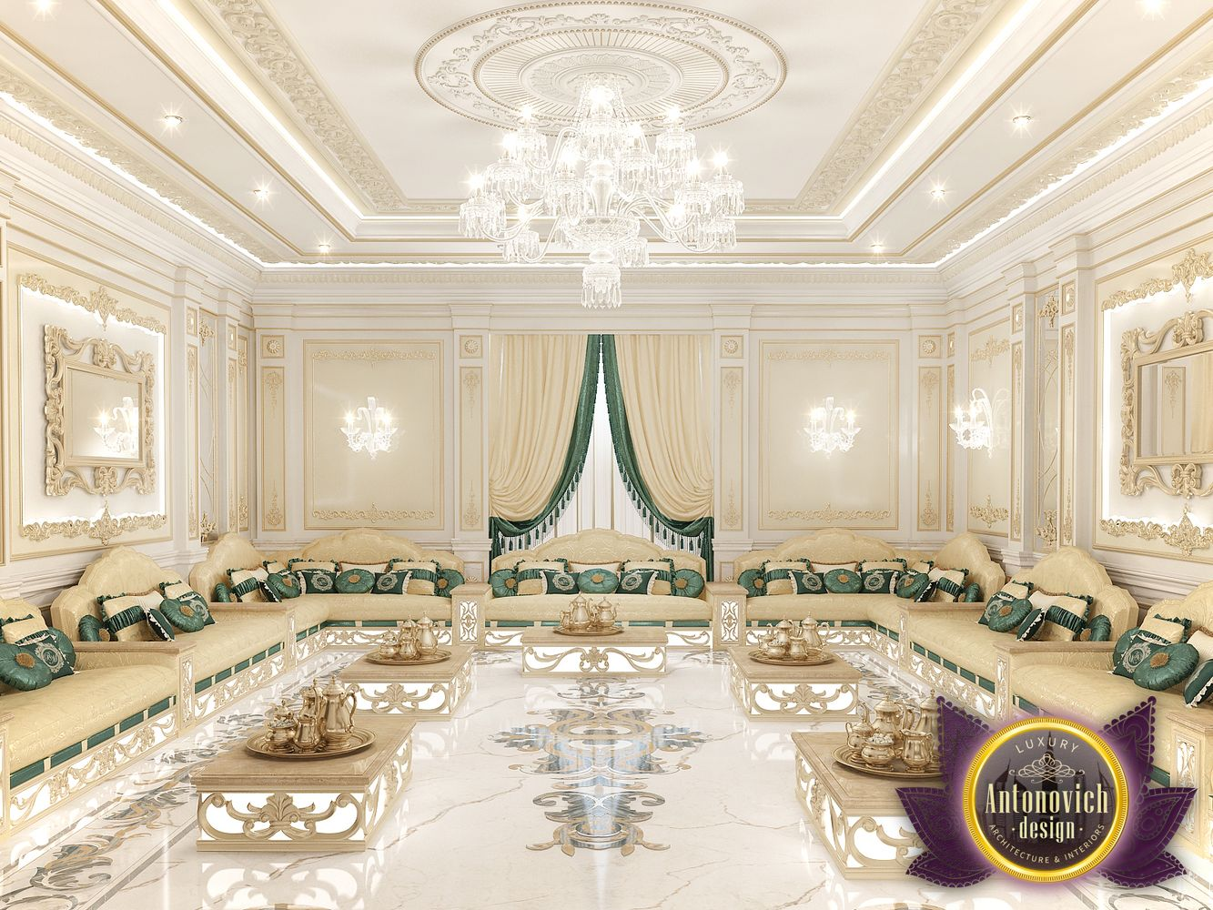 Nigeiradesign arabic majlis interior design from luxury for Modern home decor dubai