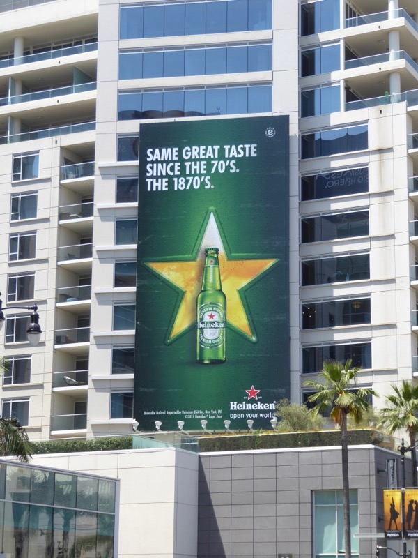 Heineken great taste 70s billboard