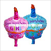 Balon Foil Cup Cake FIRST BIRTHDAY
