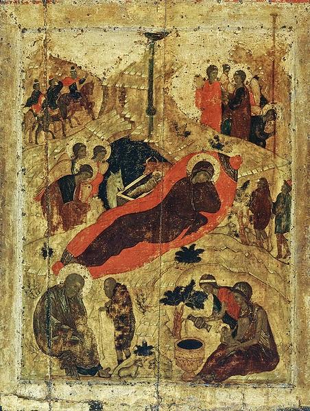 Natividade de Jesus - Andrei Rublev e suas pinturas ~ Bizantino