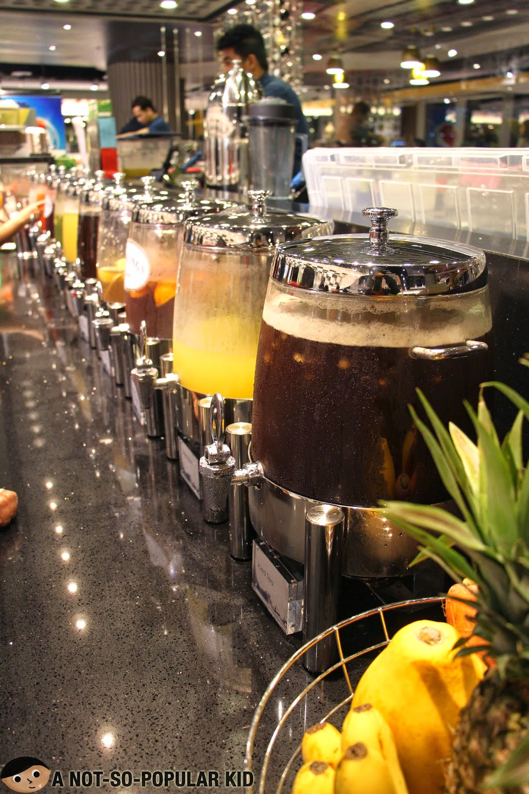 Wide collection of beverages in Vikings Restaurant