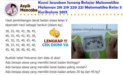 Kunci Jawaban Senang Belajar Matematika Halaman 218 219 220 221 Matematika Kelas 5 Kurikulum 2013 www.simplenews.me