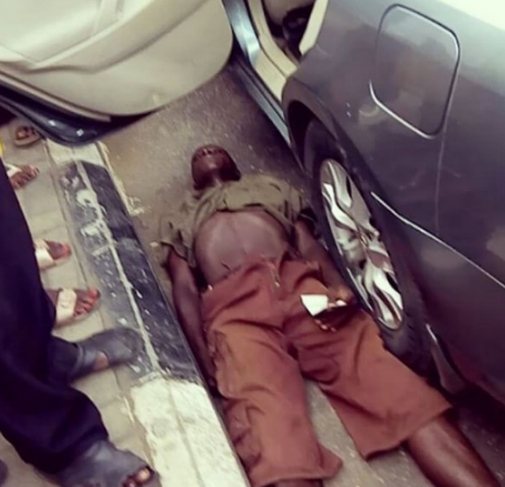Lol! Beggar Pretends He's Dying After He Was Caught Lying