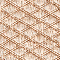 King Charles Brocade Stitch Pattern. A simple combination of knit and purl stitches. Here's how to do it! #knitpurl