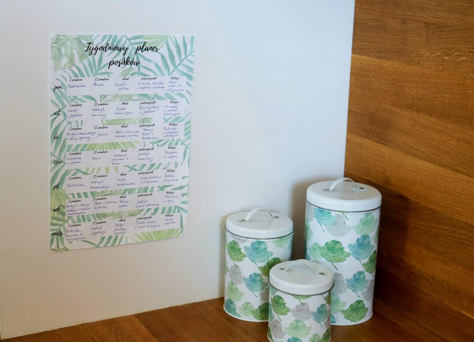 planer posiłków i lista zakupów do druku