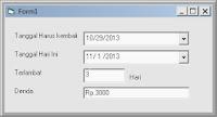 Menghitung Selisih Hari Dari 2 Buah DTPicker Dengan Visual Basic 6.0