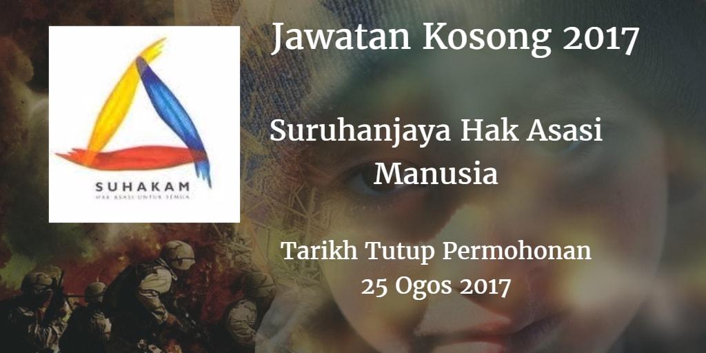 Jawatan Kosong SUHAKAM 25 Ogos 2017