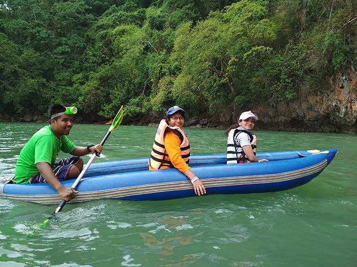 Canoeing in Phuket, Thailand