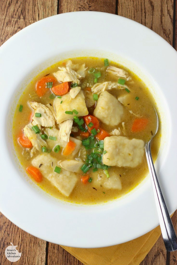 Chicken N Dumplings in a bowl