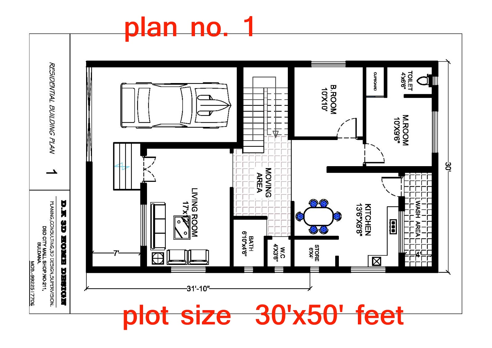 Plan With 3d Elevation