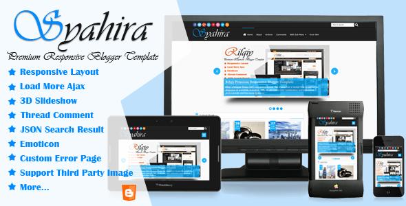Syahira - Magazine Responsive SEO Blogger Template