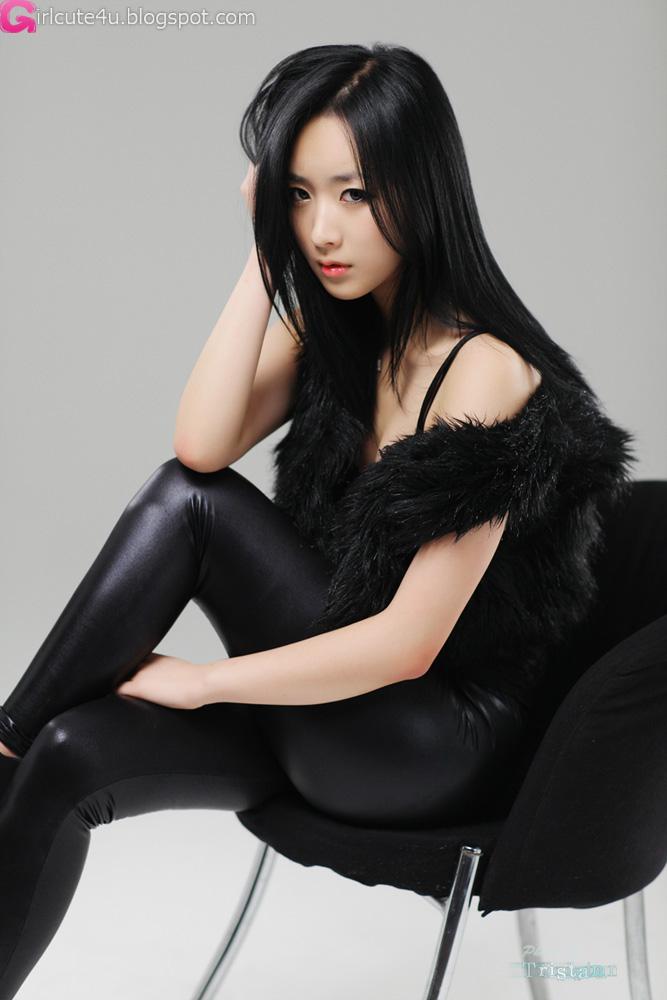 Cute Asian Girl: Sexy Minah - Black Leather Pants!