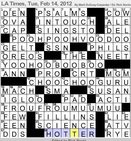 Latimes crossword corner argyle answer grid malvernweather Gallery