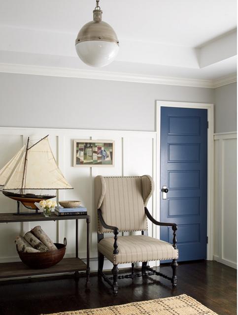 decoração da sala com azul