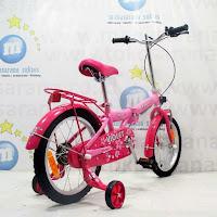 16 family violet sepeda lipat anak