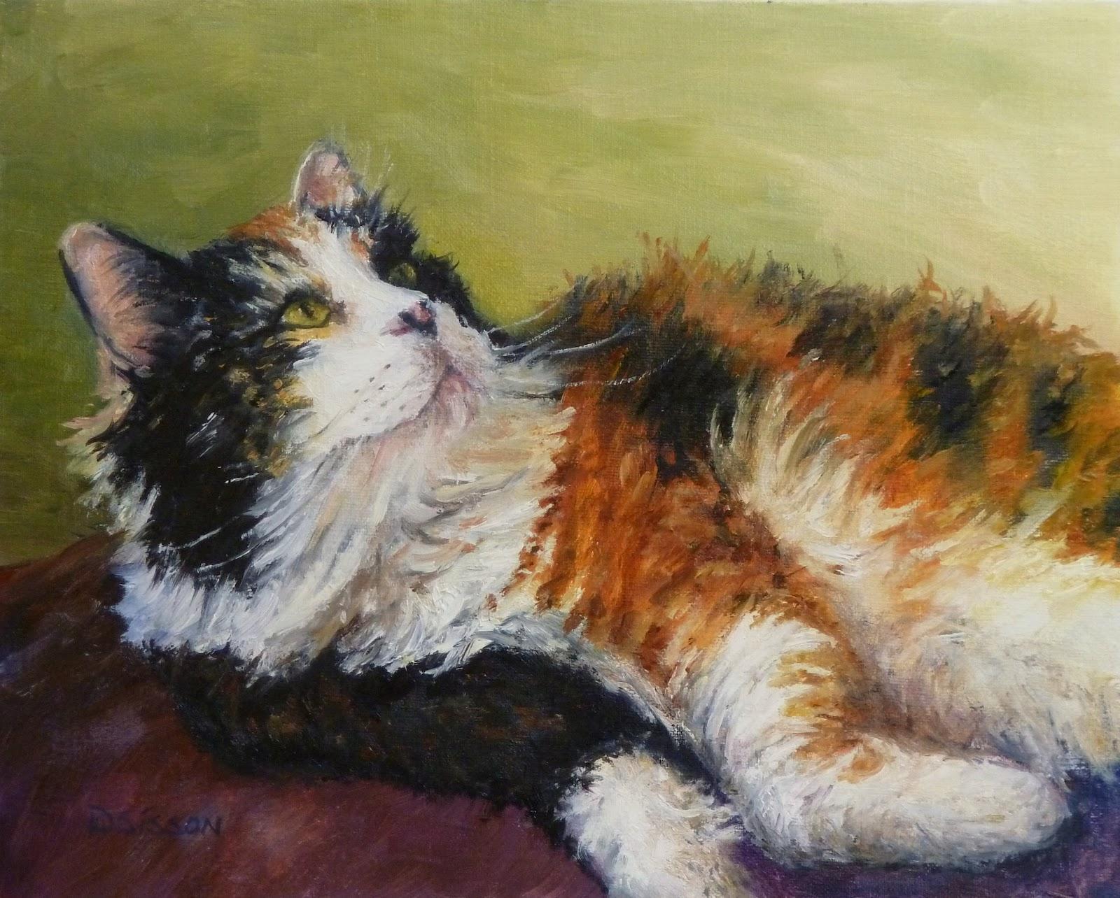 Daily Painters of Arkansas: Calico in Repose Debra Sisson ...