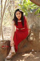 Telugu Actress Zahida Sam Latest Pos in Red Gown at RF Films New Movie Opening  0365.JPG
