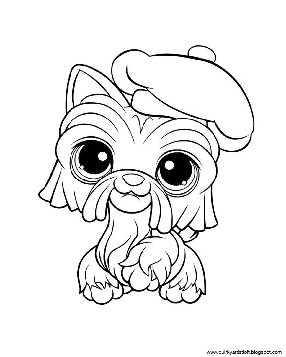 Quirky artist loft littlest pet shop free printable for Littlest pet shop puppy coloring pages