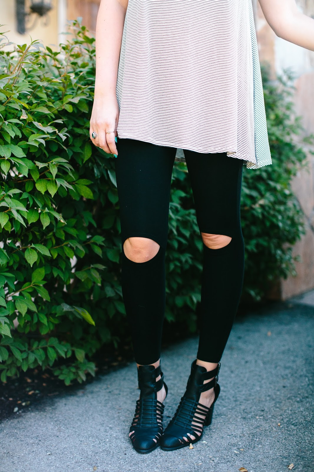 Sidney Clark Designs, Ripped Leggings, Utah Fashion Blogger