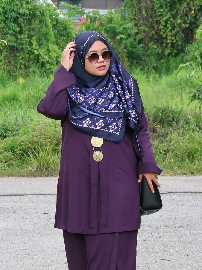 Syafiqahhashimxoxo What I Wear Eggplant Kebaya Labuh
