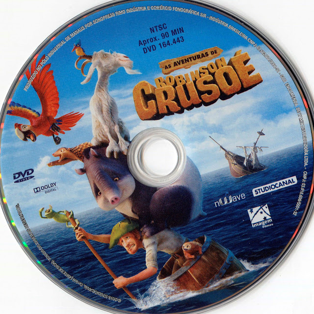 Label DVD As Aventuras de Robinson Crusoé (Oficial)
