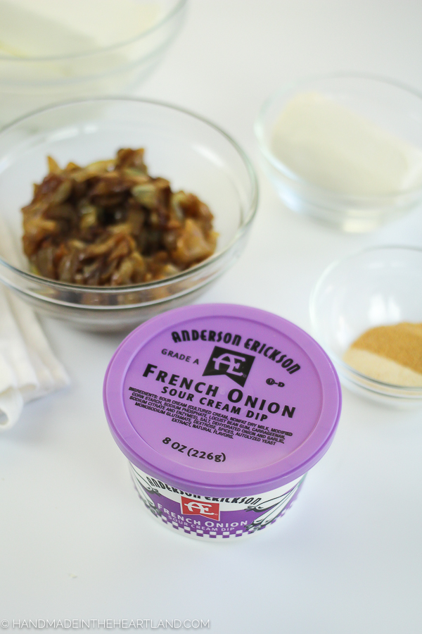 delicious ingredients for the best french onion appetizer