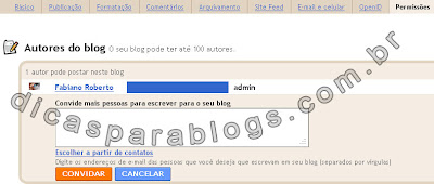 adicionar autores no blog