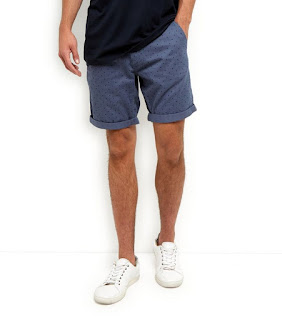New Look Blue Polka Dot Chino Shorts