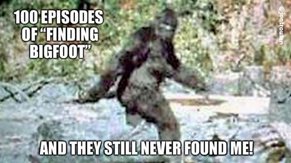Jon's Blog: Jon's Blog Daily Meme: Finding Bigfoot