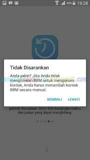 cara mendaftar bbm di android