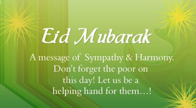 Eid mubarak 2016: a messages, of sympathy, and harmony,