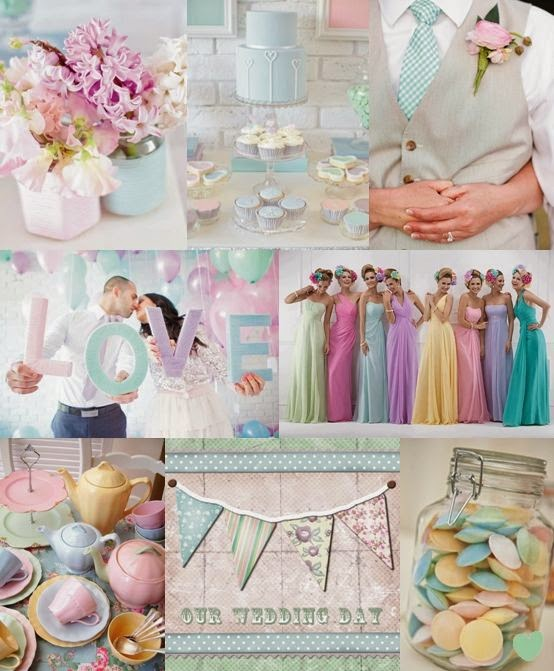 wedding ideas pastel colours pellmell cr 233 ations inspirations pour mariage pastel 28278