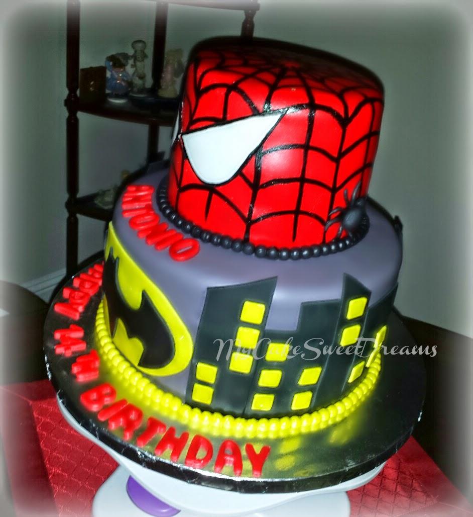 coloring pages batman spiderman cakes - photo#11