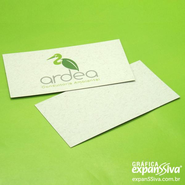 Cartão de Visita de Papel Reciclado
