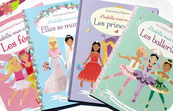 """La collection """"J'habille mes amies"""" des éditions Usborne fête ses 10 ans."""