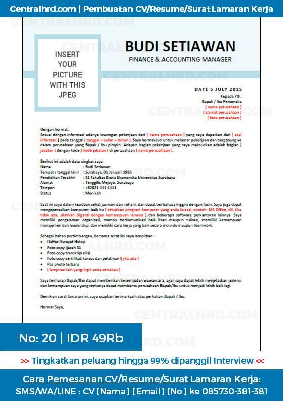 Resume Lamaran Dalam Bahasa Inggris