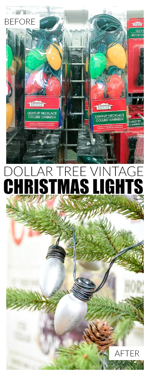 Dollar Tree vintage inspired Christmas Lights, Dollar tree, christmas