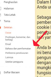 Setelan blogger