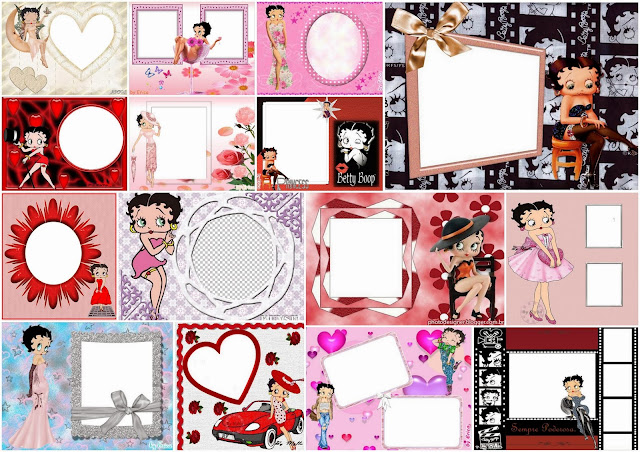 Betty Boop: Free Printable Quinceanera Invitations, Cards or Photo Frames.