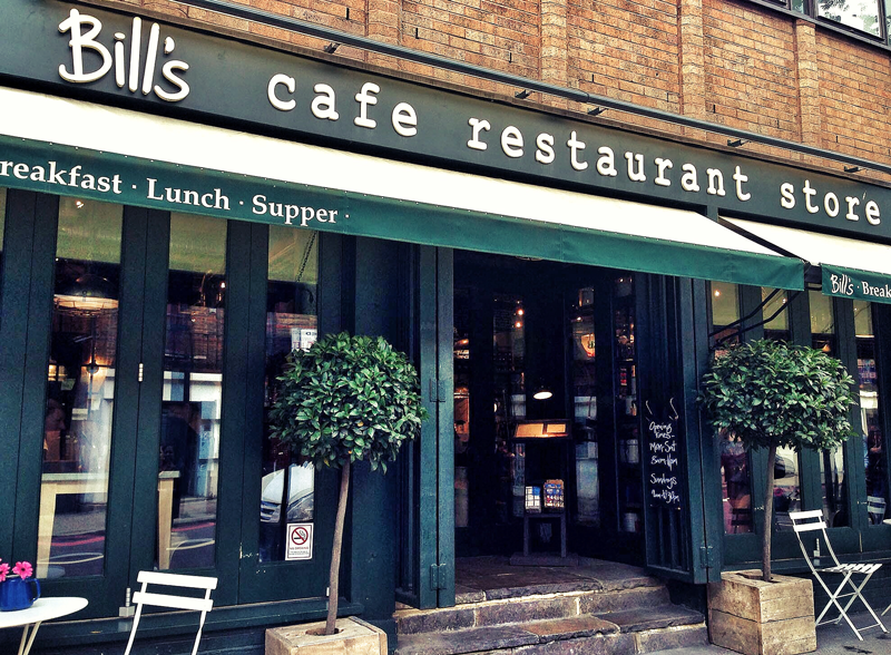 bill's manger a Londres plaisir papilles fast food british