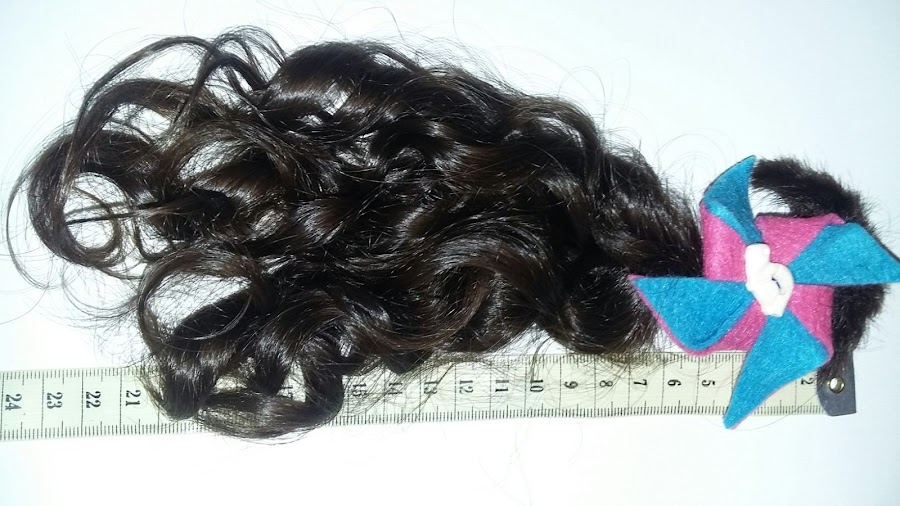 Coleta de pelo donada para hacer pelucas