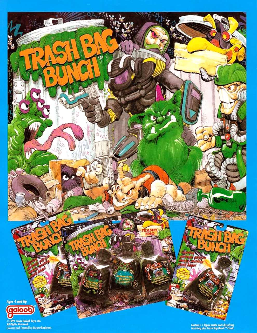 Toys From The Past 96 Trash Bag Bunch Wave 1 Figures 1